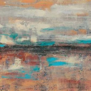 Teal Sunset I Digital Print by Goldberger, Jennifer,Abstract