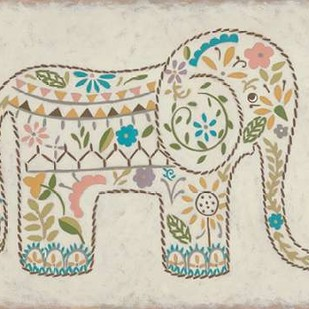 Laurels Elephant I Digital Print by Zarris, Chariklia,Decorative
