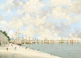 City Harbor Digital Print by Stefani, Pierre,Impressionism