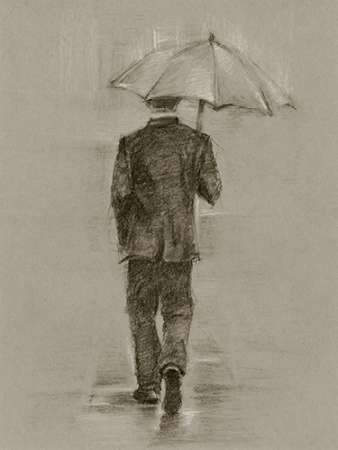 Rainy Day Rendezvous II Digital Print by Harper, Ethan,Illustration