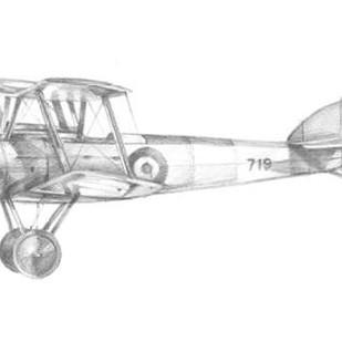 Technical Flight V Digital Print by Harper, Ethan,Illustration