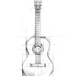 Guitar Sketch Digital Print by Harper, Ethan,Illustration