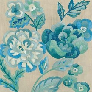 Turquoise Chintz I Digital Print by Zarris, Chariklia,Decorative