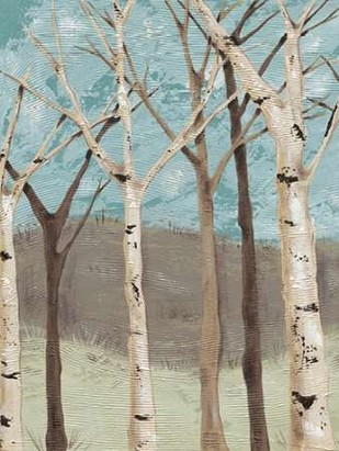 Blue Birches I Digital Print by Reynolds, Jade,Impressionism