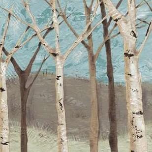 Blue Birches I Digital Print by Reynolds, Jade,Impressionism