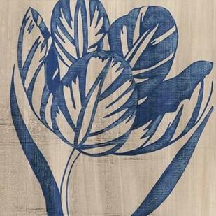 Indigo Tulip Digital Print by Zarris, Chariklia,Decorative
