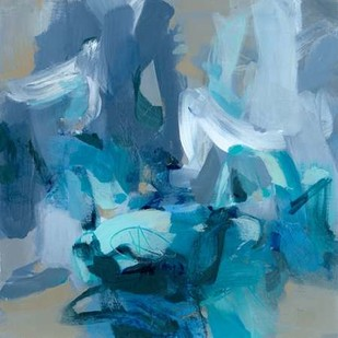 Charlotte Blue Digital Print by Long, Christina,Abstract