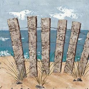 Beach Scene Triptych I Digital Print by Reynolds, Jade,Impressionism