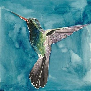 Watercolor Hummingbird II Digital Print by Popp, Grace,Impressionism