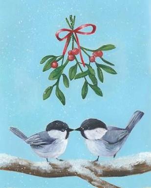Chickadee Christmas I 2-Up Print By Popp, Grace