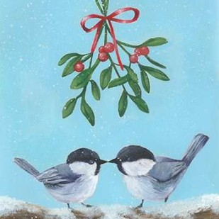 Chickadee Christmas I 2-Up Digital Print by Popp, Grace,Impressionism
