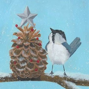 Chickadee Christmas II 2-Up Digital Print by Popp, Grace,Impressionism