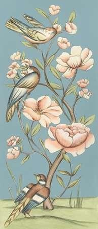 Pastel Chinoiserie I 2-Up Digital Print by Zarris, Chariklia,Decorative