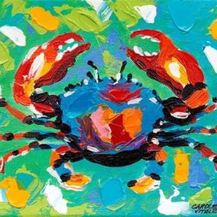 Seaside Crab I Digital Print by Vitaletti, Carolee,Impressionism