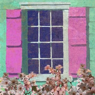 Window Floral II Digital Print by Novak, Rick,Impressionism