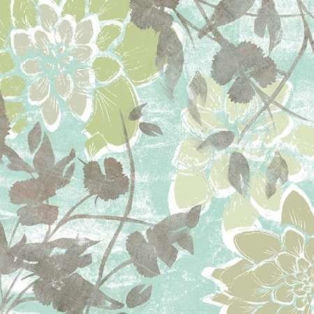 Dahlias and Petals II Digital Print by Goldberger, Jennifer,Decorative