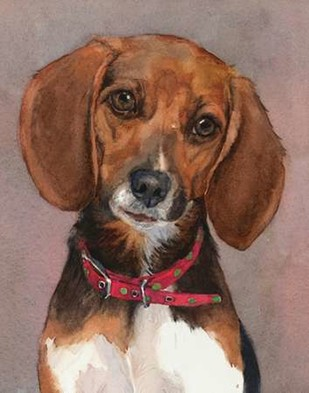 Lucy English Pocket Beagle Digital Print by Fagan, Edie,Impressionism