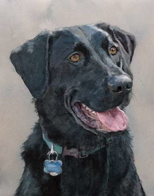 Maddie Black Lab Digital Print by Fagan, Edie,Realism