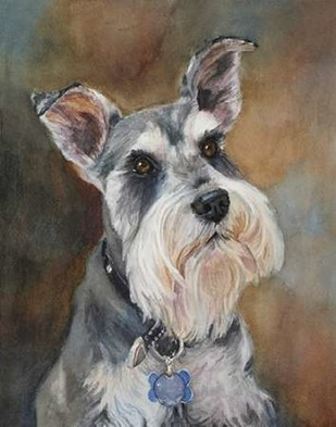 Buddy Schnauzer Digital Print by Fagan, Edie,Realism