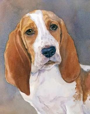 Waylon Bassett Hound Digital Print by Fagan, Edie,Impressionism