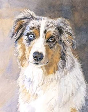 Maddie Australian Shepherd Digital Print by Fagan, Edie,Impressionism