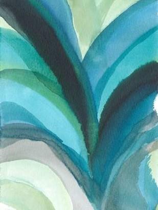 Big Blue Leaf I Digital Print by Fuchs, Jodi,Abstract