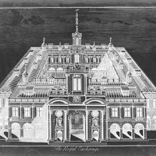 The Royal Exchange Digital Print by Vision Studio,Illustration