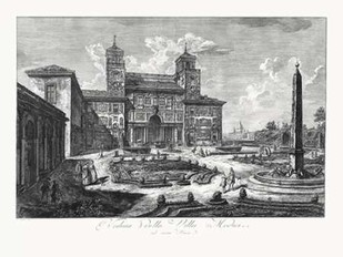 Veduta della Villa Medici Digital Print by Piranesi,Illustration