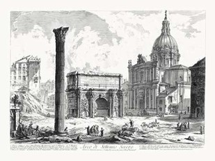 Arco de Settimo Severo Digital Print by Piranesi,Illustration
