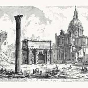 Arco de Settimo Severo Digital Print by Piranesi,Illustration