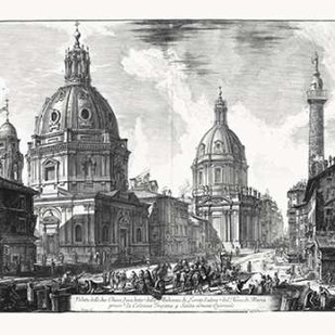 Veduta della du Chiese della Madonna Digital Print by Piranesi,Illustration