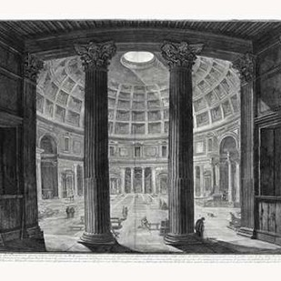 Veduta interna del Pantheon Digital Print by Piranesi,Illustration