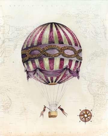Vintage Hot Air Balloons I Digital Print by McCavitt, Naomi,Decorative