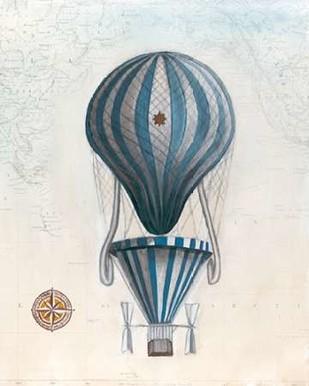Vintage Hot Air Balloons IV Digital Print by McCavitt, Naomi,Decorative