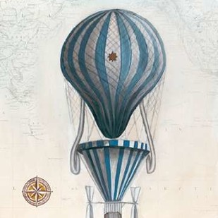 Vintage Hot Air Balloons IV Digital Print by McCavitt, Naomi,Decorative
