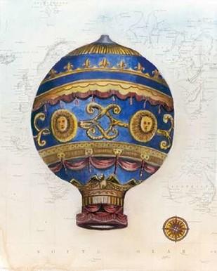 Vintage Hot Air Balloons V Digital Print by McCavitt, Naomi,Decorative
