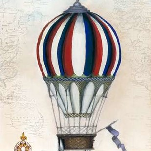 Vintage Hot Air Balloons VI Digital Print by McCavitt, Naomi,Decorative