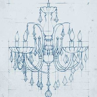 Chandelier Draft I Digital Print by Harper, Ethan,Illustration