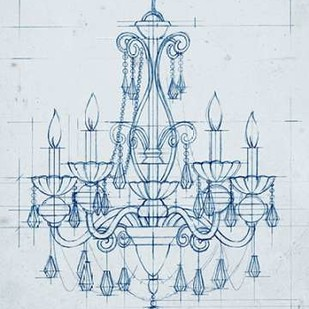 Chandelier Draft III Digital Print by Harper, Ethan,Illustration