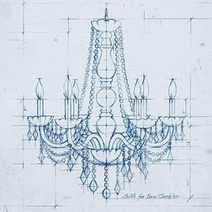 Chandelier Draft IV Digital Print by Harper, Ethan,Illustration