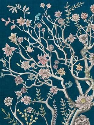Indigo Night Chinoiserie I Digital Print by McCavitt, Naomi,Decorative