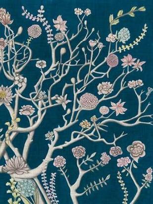 Indigo Night Chinoiserie II Digital Print by McCavitt, Naomi,Decorative