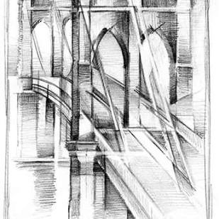 Art Deco Bridge Study II Digital Print by Harper, Ethan,Illustration