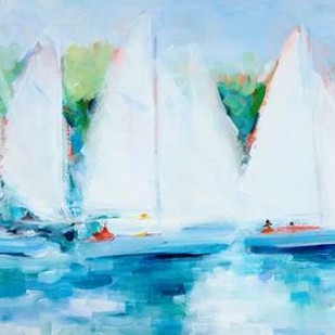 Youth Regatta Digital Print by Crain, Curt,Impressionism