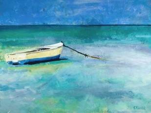 Water Taxi Digital Print by Crain, Curt,Impressionism