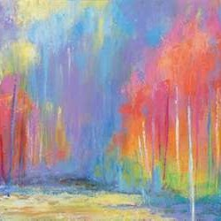 Woods Splash Digital Print by Bothne, Janet,Impressionism