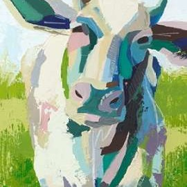 Painterly Cow II Digital Print by Popp, Grace,Pop Art