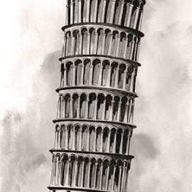 World Landmarks V Digital Print by Popp, Grace,Illustration