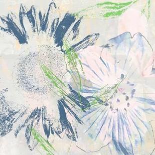 Azulejo V Digital Print by Aryai, Sia,Impressionism