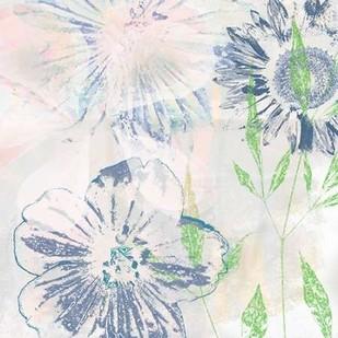 Azulejo VI Digital Print by Aryai, Sia,Impressionism